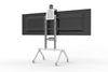 Dual Display Kit for Heckler AV Cart - Grey White | Heckler Design