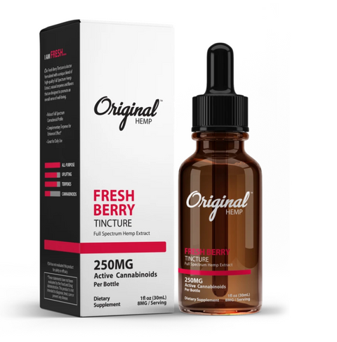 Fresh Berry Original Hemp Full Spectrum Tincture - Boardwalk Elixir