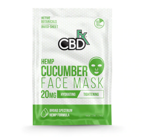 CBDFX CBD 20mg Face Mask - Cucumber