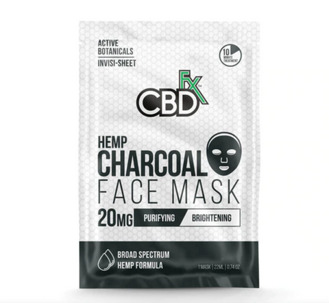 CBDFX CBD 20mg Face Mask - Charcoal