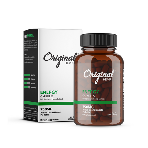 Original Hemp Capsules 750mg - Energy