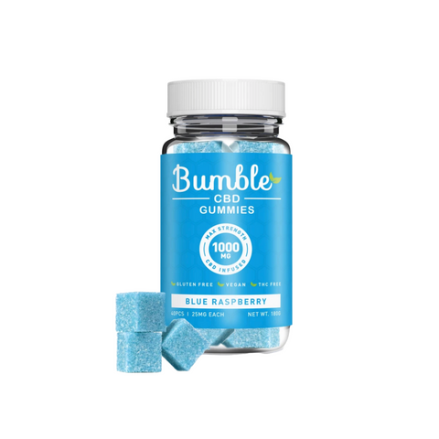 Bumble CBD Gummies 1000mg - Blue Raspberry