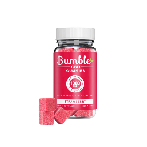 Bumble CBD Gummies 1000mg - Strawberry