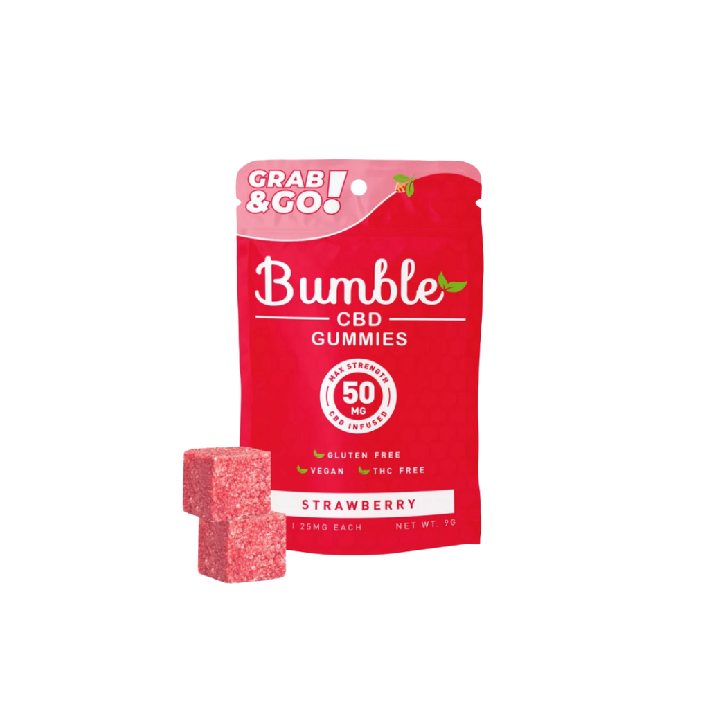 Bumble CBD Gummies 50mg - Strawberry