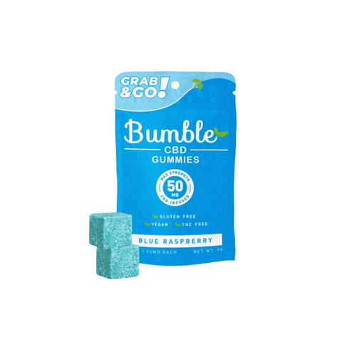 Bumble CBD Gummies 50mg - Blue Raspberry