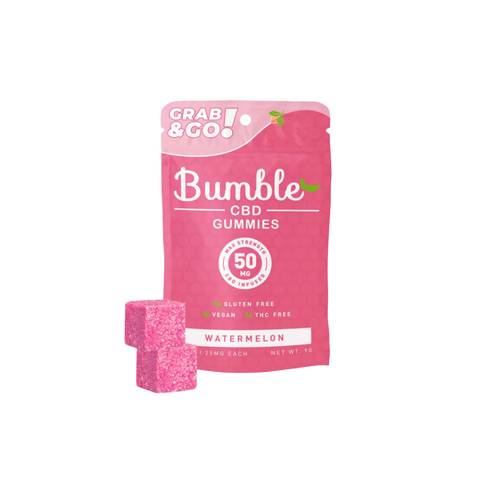 Bumble CBD Gummies 50mg - Watermelon