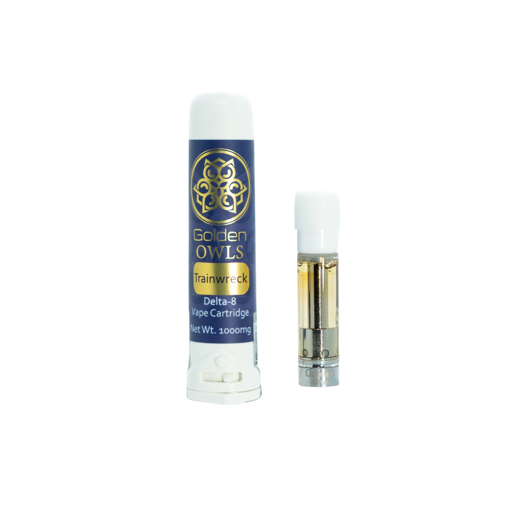 Owls Delta-8 Vape Cartridge 1000mg - Trainwreck