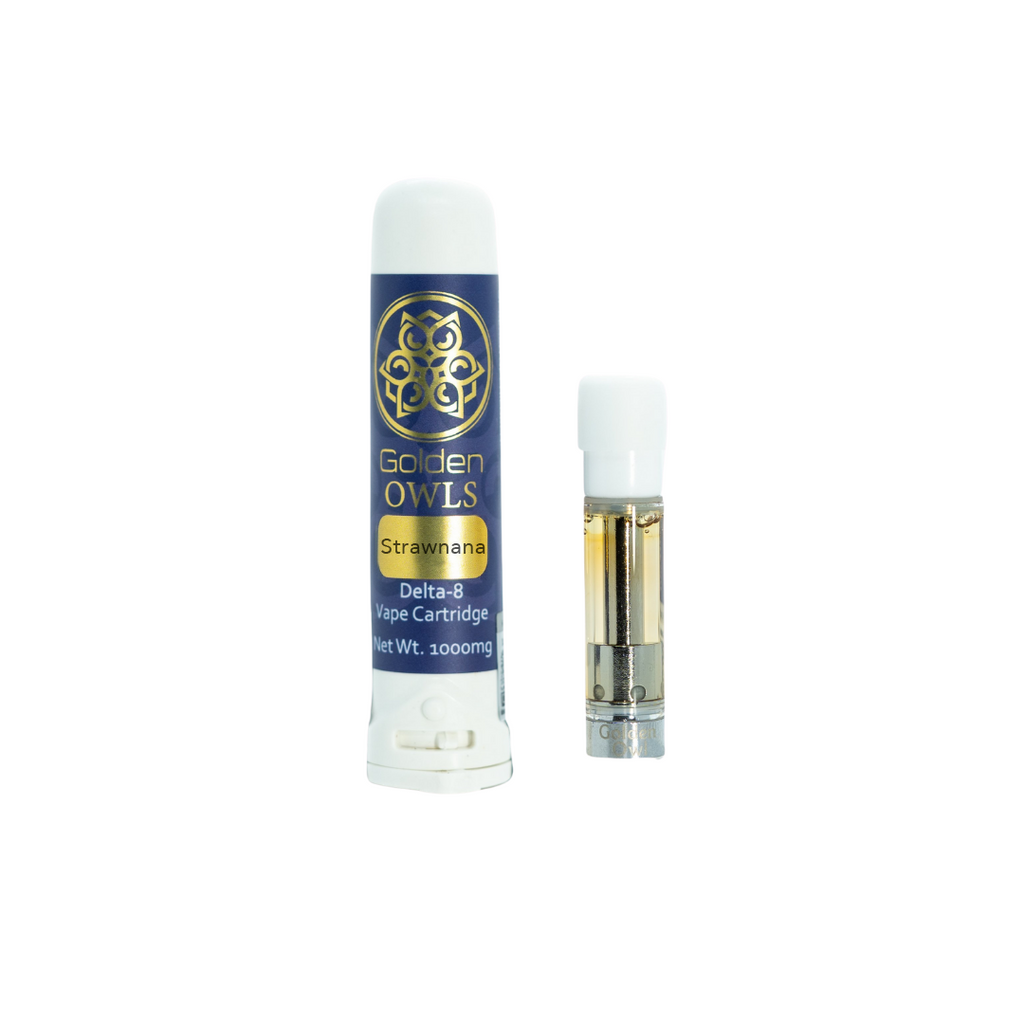 Owls Delta-8 Vape Cartridge 1000mg - Strawnana