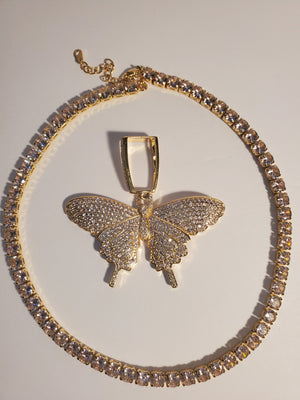 Open image in slideshow, Sweet Butterfly tennis choker