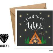 Born To Be Wild (Greeting Card) - MIMI+MARTHA