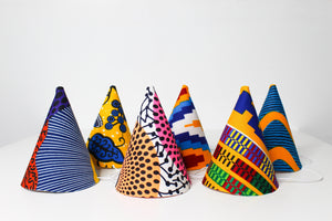 Ankara Mini Party Hat (Cone - Set of 5) - MIMI+MARTHA