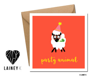 Party Animal (Greeting Card)