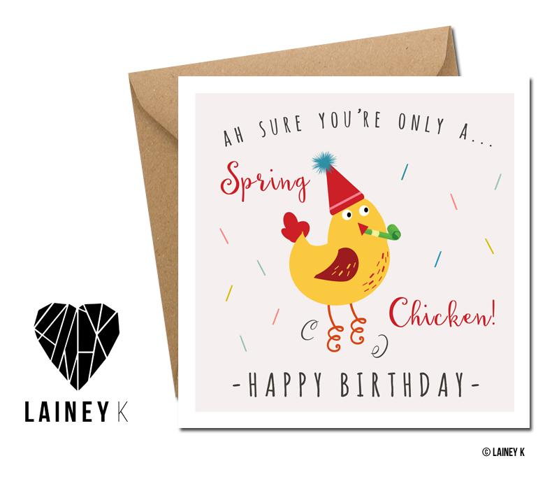 Spring Chicken (Greeting Card) - MIMI+MARTHA