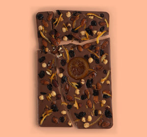 Seasonal Sharing Slab of Milk Chocolate - Frosty Walks
