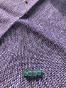 Danu Bead Necklace (Green)