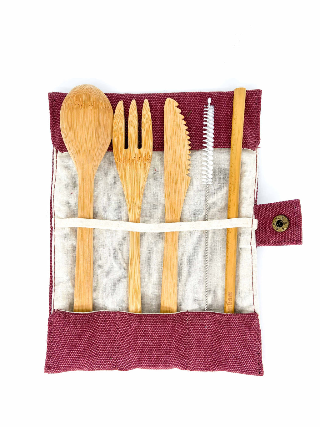 Bambaw Reusable Cutlery Set (Berry) - MIMI+MARTHA