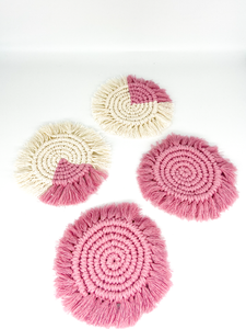 Knots by Niamh - Set Of Coasters in Pink