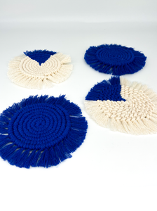 Knots by Niamh - Set Of Coasters in Blue