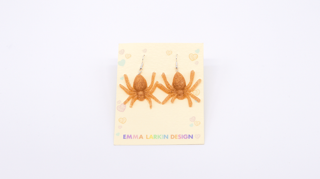 Golden Spiders Earrings - MIMI+MARTHA