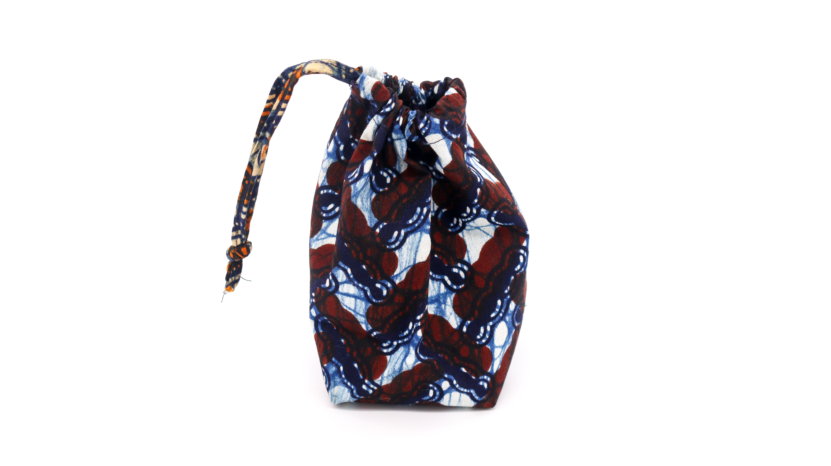Copper Printed Multi-Use Pouch - Brown & Blue Design