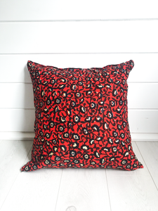Red Flower Pattern Cushion