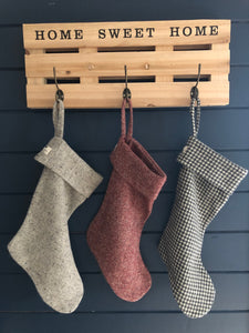 Donegal Tweed Christmas Stocking
