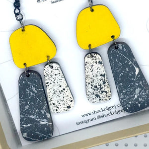 Aoife Yellow And Charcoal Earrings