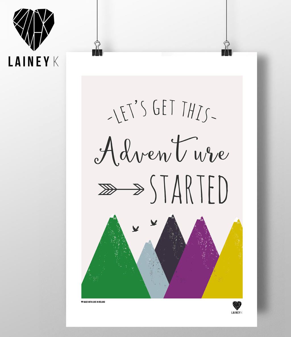 (A4 Print) Let's Get This Adventure Started - MIMI+MARTHA