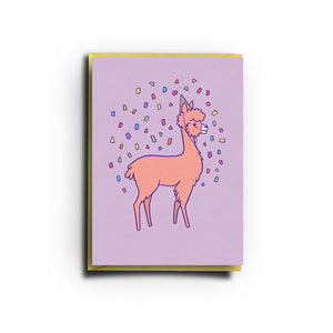 Alpaca Card (Greeting Card)