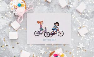 Best Friend - Happy Birthday (Greeting Card)