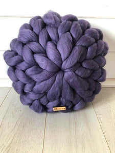 Olannmor x Mimi+Martha Merino Wool Round Cushion (Purple)