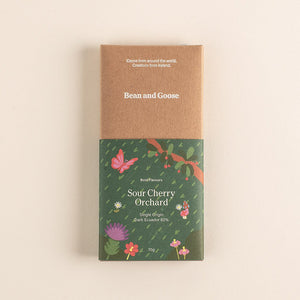 Sour Cherry Orchard Dark Chocolate Bar