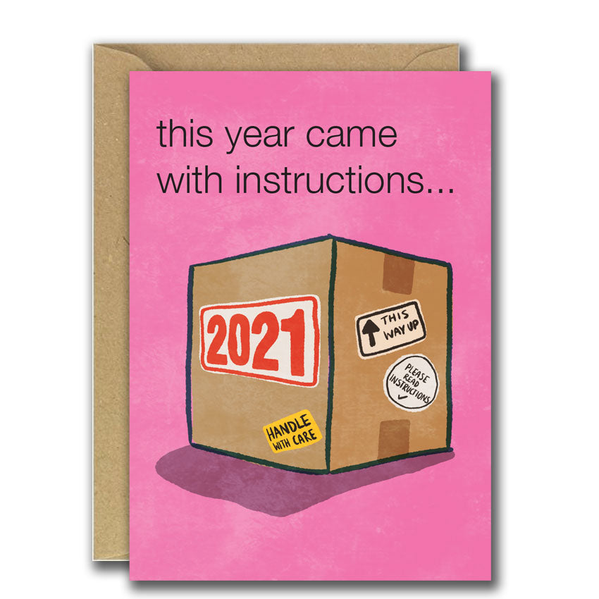 This Year Came With Instructions (Greeting Card)
