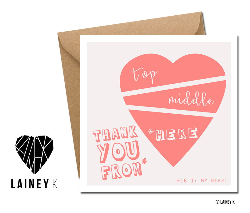 Thank You From The Bottom Of My Heart (Greeting Card) - MIMI+MARTHA
