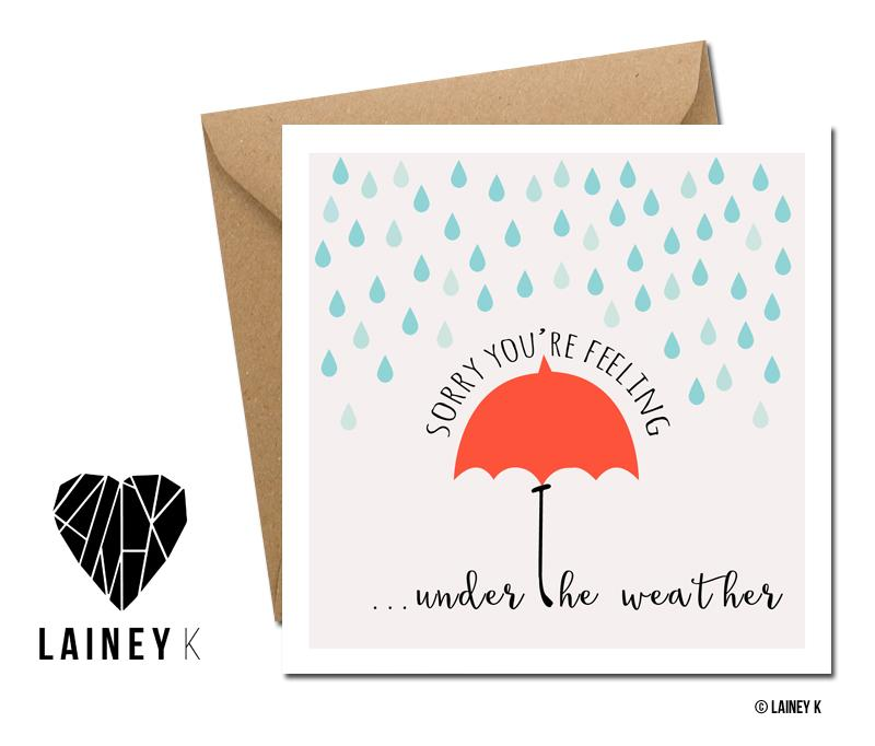 Under The Weather (Greeting Card) - MIMI+MARTHA