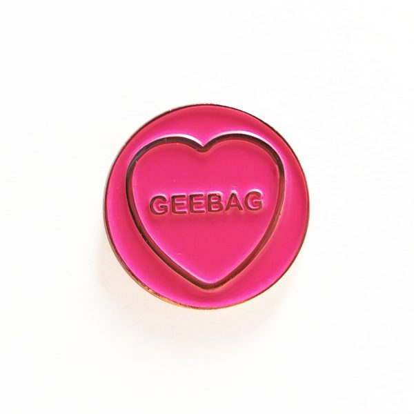 Geebag Hate Hearts Pin Badge