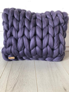 Olannmor x Mimi+Martha Merino Wool Square Cushion (Purple)