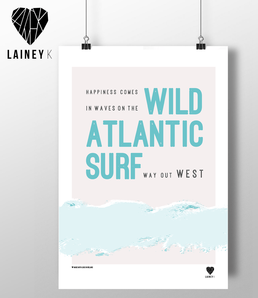 (A4 Print) Wild Atlantic Surf - MIMI+MARTHA