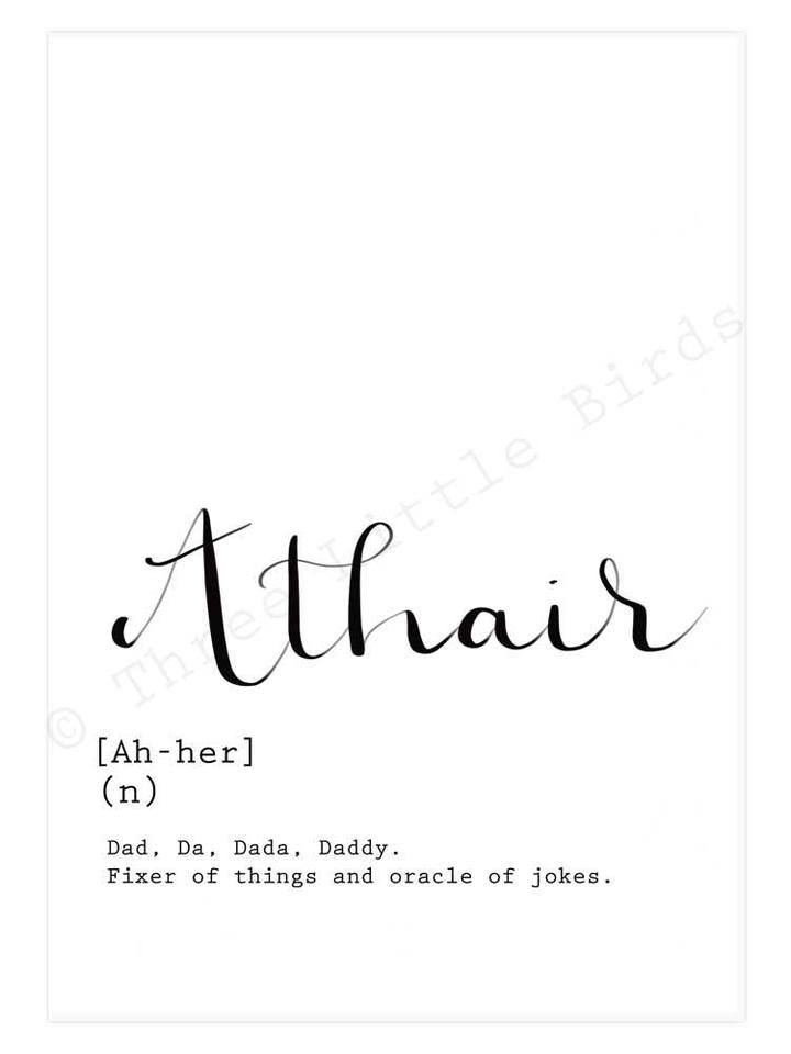 A5 Print -Athair - Father