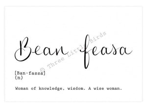 A5 Print -  Bean Feasa -  Wise Woman
