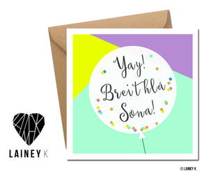 Breithla Sona (Greeting Card)