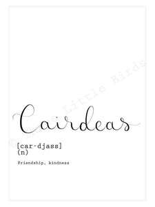 A5 Print - Cairdeas - Friendship