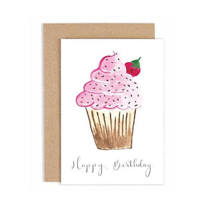 Greeting Card - Breithlá Shona - Happy Birthday- Cupcake