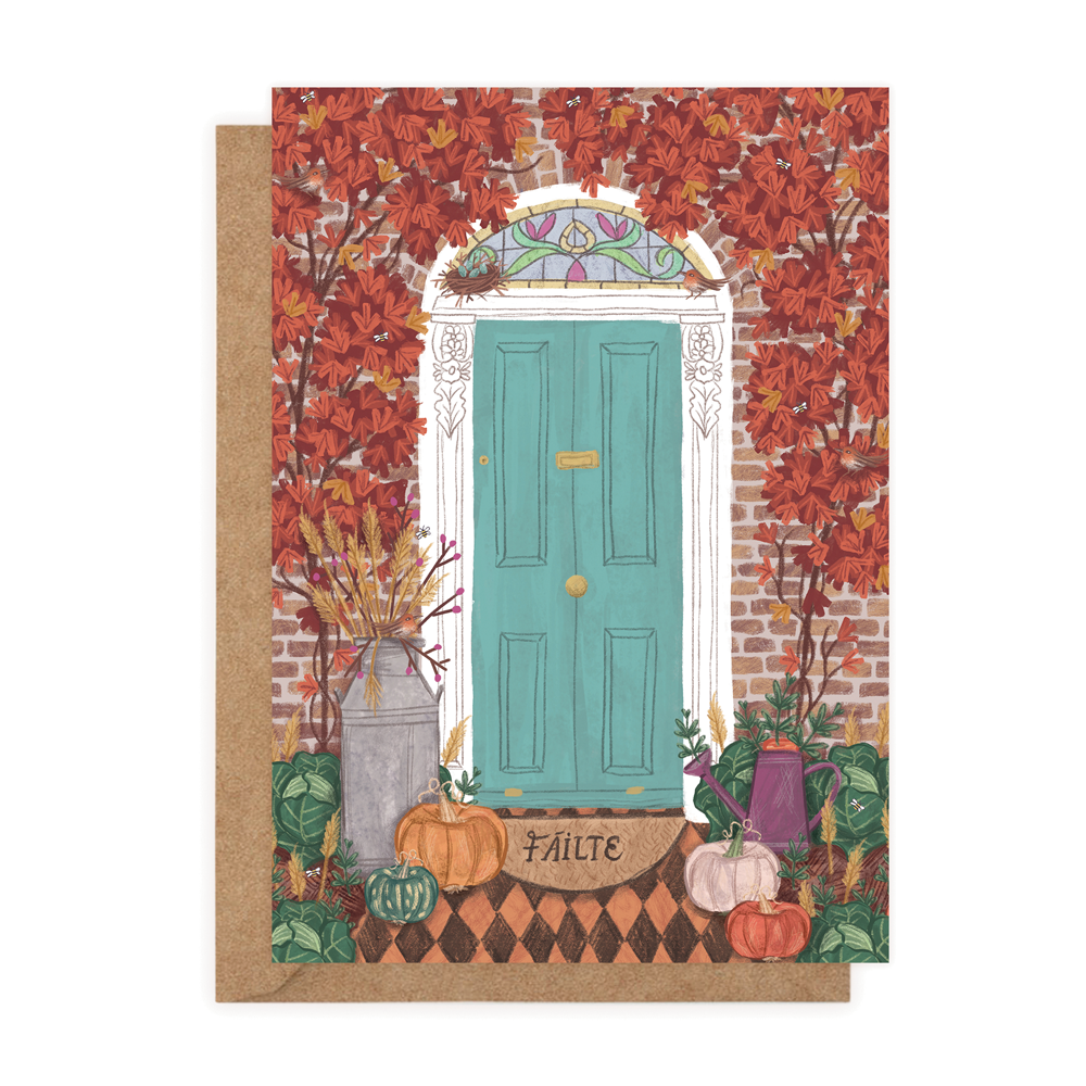 Welcomes & Octobers Autumn (Greeting Card)