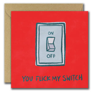 You Flick My Switch... (Greeting Card)