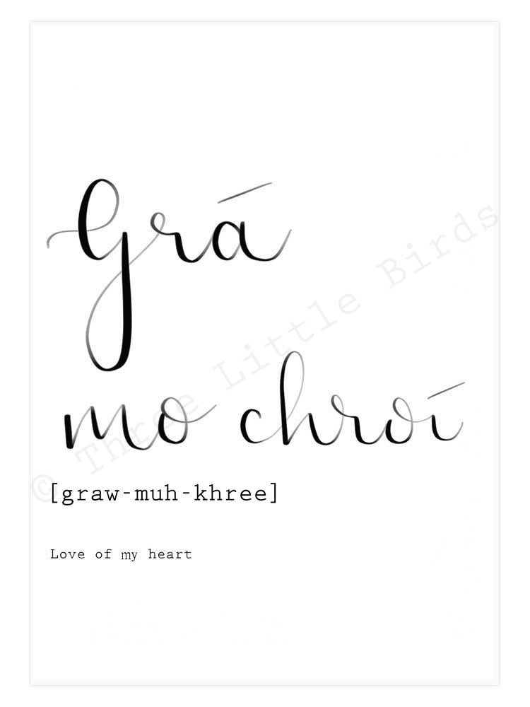 A5 Print - Grá Mo Chroí­- Love of my Heart