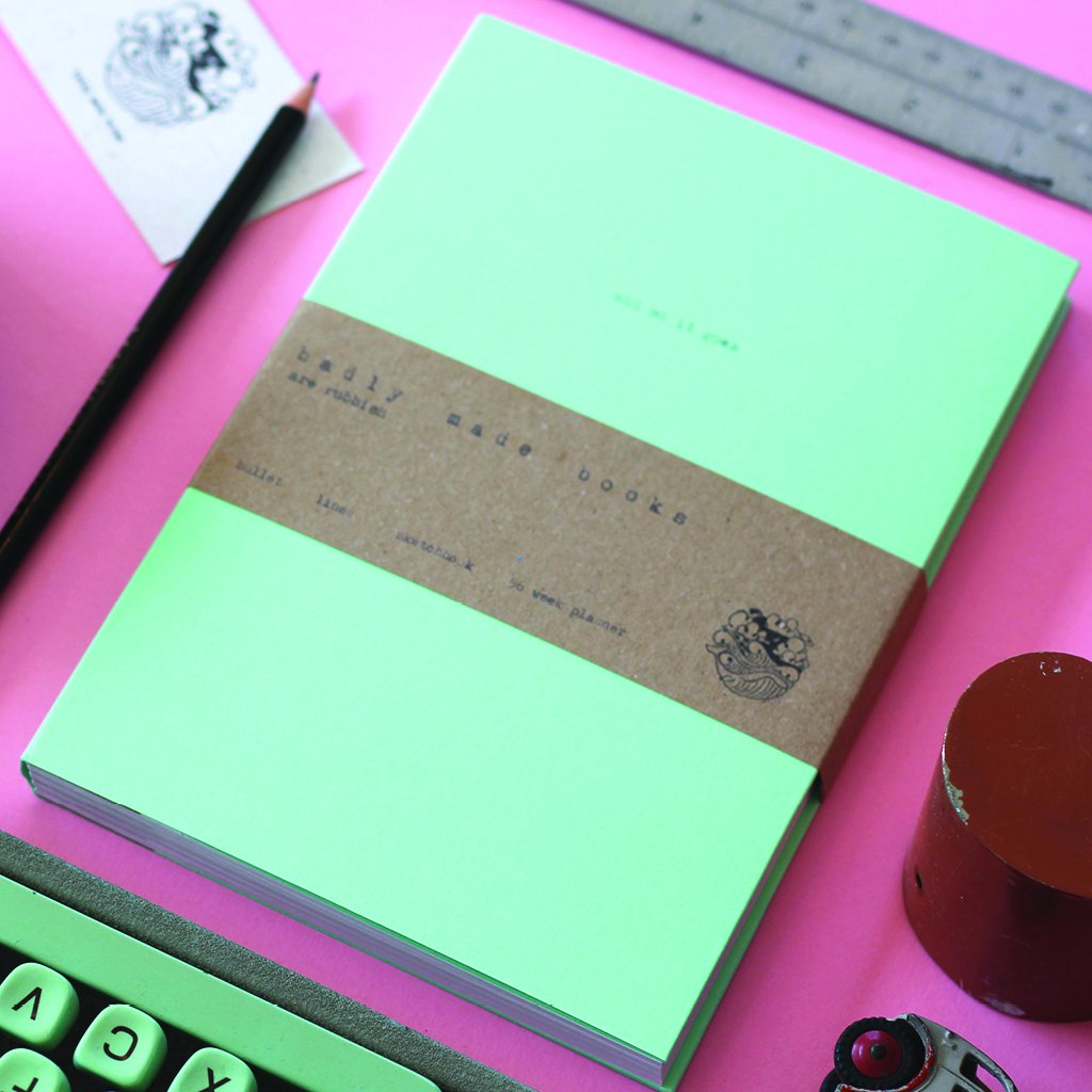A5 'And So It Goes' 56 Week Planner (Mint) - MIMI+MARTHA