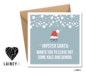 Hipster Santa (Greeting Card)