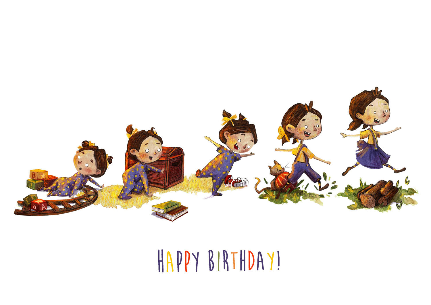 How to Grow A Girl - Happy Birthday (Greeting Card)