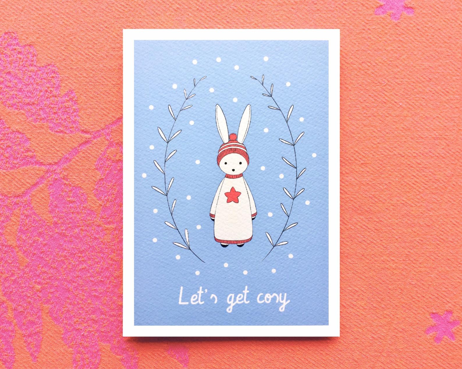 Greeting Card - Let's Get Cosy